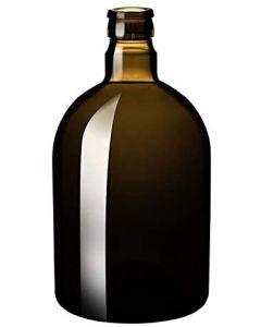 Kit di 20 bottiglie per olio Kolio. Forma bombata. Capacità: 500 ml. Colore verde antico. Munite di tappo antirabbocco. Prezzo riferito a 20 bottiglie.