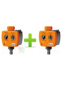 2 programmatori programmatore analogico timer temporizzatore irrigazione tubo acqua a batteria
