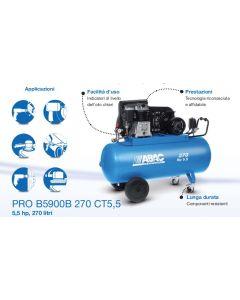 Abac Pro B5900B 270 CT 5,5 compressore professionale per smerigliatura avvitatura verniciatura