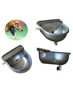 Abbeveratoio automatico per cani con galleggiante e rubinetto di scarico