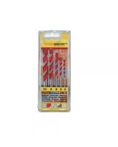 Alpen assortimento 5 pezzi di punte per trapano universali profi multicut in box in plastica. Diametro mm 4 - 5 - 6 - 8 - 10.
