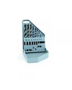 Alpen assortimento 8 pezzi punte per trapano per muro profi beton in astuccio in metallo. Diametro mm 3 - 4 - 5 - 6 - 8 - 10.