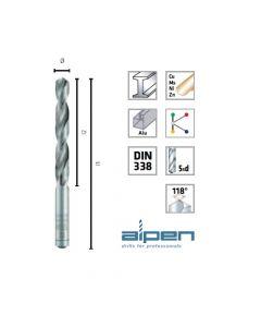 Alpen Din 338 punta per metallo HSS super rettificata per trapano a colonna e manuale