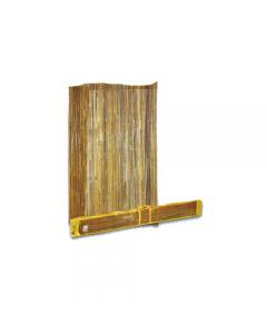 Arella in bamboo 1/2 canna. Cannette in bambù spaccato 10 mm. Legate con filo di metallo plastificato. disponibili in dimensioni metri 1 x 3, 1,5 x 3, 2 x 3. EAN 8004944006076 8004944060719 8004944060726