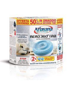 Ricarica composta da 2 pastiglie da 450 grammi per Ariasana Aero 360°. La tab ultra-assorbente 450g ha un'esclusiva scanalatura con foro centrale, per un maggiore contatto con l'aria che aumenta le prestazioni.