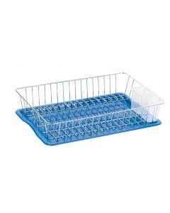 Artex Jall scolapiatti in acciaio cromato con vassoio scolaposate in plastica colore blu
