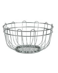 Artex Kitchen portafrutta da tavolo diametro cm 24 in acciaio cromato