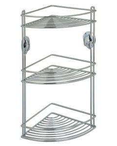 Artex Stick angoliera in acciaio cromato portatutto per il bagno a 3 piani in acciaio cromato