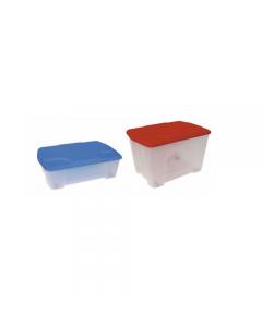 Artplast contenitore salvaspazio in plastica multiuso con coperchio e ruote