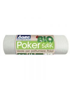 Bama Poker Sak Bio:confezione di 20 sacchetti trasparenti di dimensioni cm 65 x 64. Sacchetti per l'immondizia 100% biodegradabili e biocompostabili, ideali per le pattumiere Poker e Poker Plus ma adattabili anche ad altre tipologie di contenitori. Traspa
