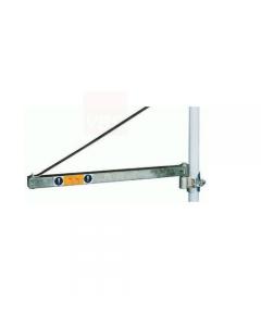 Bandiera per elevatore in acciaio ad alata resistenza. Disponibile in sbraccio cm 110 e portata 300 kg e sbraccio 75 cm e portata kg 600.