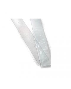 Battisedia in poliver trasparente con fori fornito di viti e tasselli cm 12 x 80