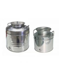 Belvivere contenitore da trasporto per olio in acciaio inox con predisposizione rubinetto