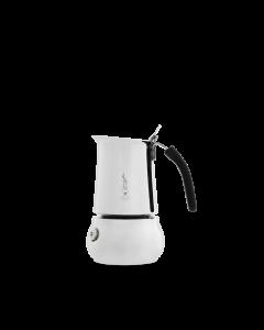 Caffettiera in acciaio inox adatta anche per piano cottura a induzione prodotta da Bialetti
