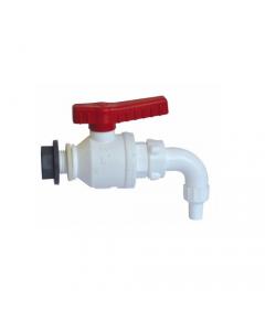 Bucchi rubinetto per botti valvola a sfera con raccordo riempi bottiglie in polipropilene con filetto gas maschio + collare e guarnizioni