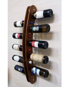 Cantina rastrelliera a parete espositore portabottiglie in legno da 10 posti.