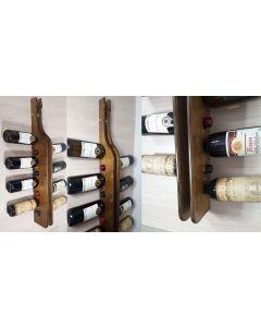 Cantinetta porta bottiglie di vino a parete in legno