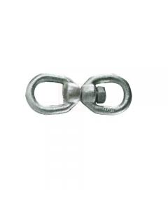 """Carcano tornichetto girevole in acciaio con zincatura elettrolitica. mm 10 - 3/8"""". 10 pezzi."""