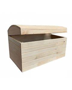 Cassapanca in legno per contenere pellet, attrezzi, giocattoli