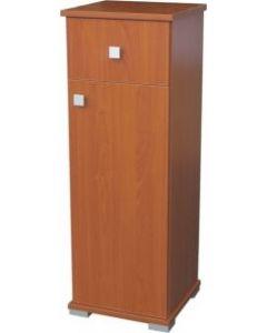 Cassettiera in legno con 1 cassetto e 1 anta. Dimensioni cm 31 x 33 x h 91. Disponibile in colore ciliegio e noce.