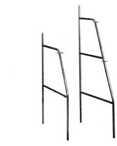Cavalletto per il sostegno di gabbie per conigli tubolare in acciaio zincato