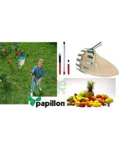 Cesto raccogli frutta in tela per raccolta frutta con manico telescopico 1,5 - 4 metri