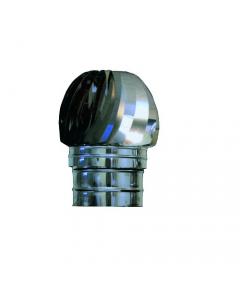 Comignolo fumaiolo testa radiante base tonda in acciaio inox per canna fumaria