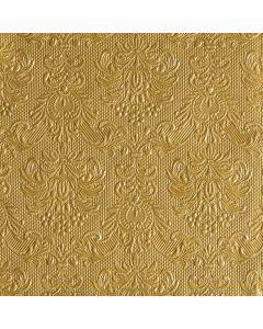 Confezione di 15 tovaglioli colore oro. Dimensioni cm 33 x 33. Ideali per il periodo natalizio, per feste e festività in genere.