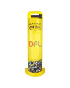 Contenitore per pile esauste giallo capacità 10 litri