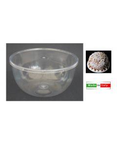 Contenitore trasparente per zuccotti con coperchio cm 9,5 x altezza 6 peso 200 grammi