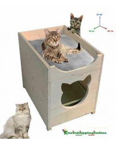 Cuccia casetta porta lettiera lettino per gatti pet cm 39 x 55 x h 51 cm tetto apribile