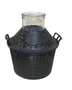 Damigiana in vetro bocca larga 15 litri con tappo