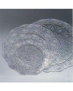 Diamante vassoio trasparente per servire dolci e torte confezione 10 pezzi. Vassoio disponibile nel diametro cm 30, 33, 36.