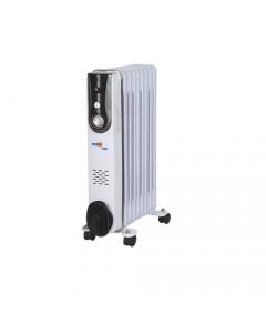 Dusty Milo radiatore ad olio con termostato di controllo - con timer e ventola - selezione temperatura - 11 elementi - 2000 watt