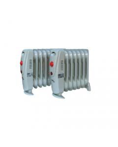 Dusty Naxos radiatore ad olio con tasto accensione con indicatore luminoso termostato di controllo selezione temperatura 7 elementi dimensioni cm 30 x 13 x h 34,5 potenza 700 watt