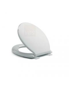 Dusty sedile per wc water tazza bagno colore bianco in resina infrangibile con viti e cerniere di fissaggio