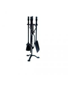 Dusty set di accessori per camino con impugnatura ad esagono spazzola attizzatoio paleta pinze di supporto altezza cm 59