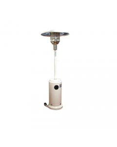 Dusty Soleado stufa a gas ad ombrello con ruote colore bianco