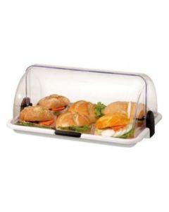 Espositore vetrina vetrinetta da bar per dolci panini pizzette colore bianco dimensioni cm 46,5 x 31,5 x h 19,5