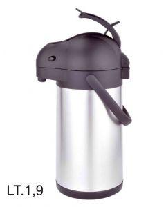 Eva Airpot Tokio caraffa in acciaio inox disponibile in capacità 1,9 litri e 2,5 litri.