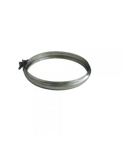 Fascetta di bloccaggio per tubo per stufe in acciaio inox