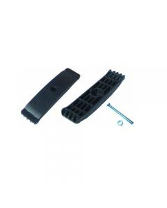 Fermo di fissaggio per canaletta in polipropilene utilizzabile per canaletta Top 13 x 100. 50 pezzi