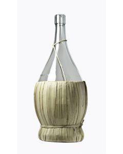 Fiasco impagliato per vino. Bottiglia in vetro disponibile in capacità 500 o 700 cc. Confezione da 10 pezzi. Capsule escluse.