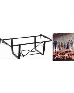 fioriera fioriere regolabile in ferro verniciato per balcone terrazzo muretto in ferro porta vaso fiori