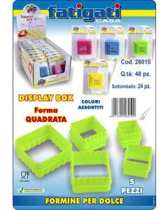 Formine quadrate per dolci fatti in casa set di 5 pezzi
