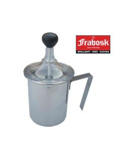 Frabosk cappuccinatore in acciaio inox cromato 3 tazze dimensioni cm 8,5 x h 9
