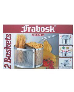 Frabosk spicchi scaldapasta con pinza set 2 pezzi da cm 22 in acciaio