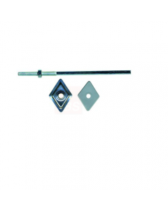 Friulsider barrette per coperture zincate con rondelle romboidali acciaio e plastica mm 27 x 27