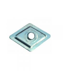 Friulsider rondella romboidale in acciaio zincato con foro diametro mm 6,5 dimensioni m 27 x 27