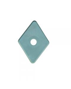 Friulsider rondella romboidale in polipropilene plastica foro diametro mm 6 dimensioni mm 27 x 27